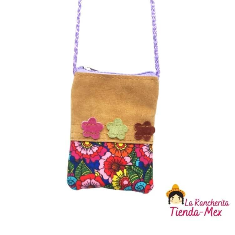 Bolsita Plana chica Gamuza | Tienda Mex