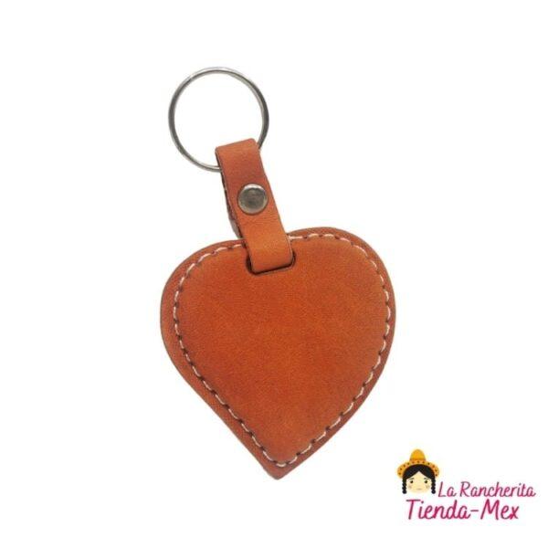Llavero Corazón De Piel | Tienda Mex