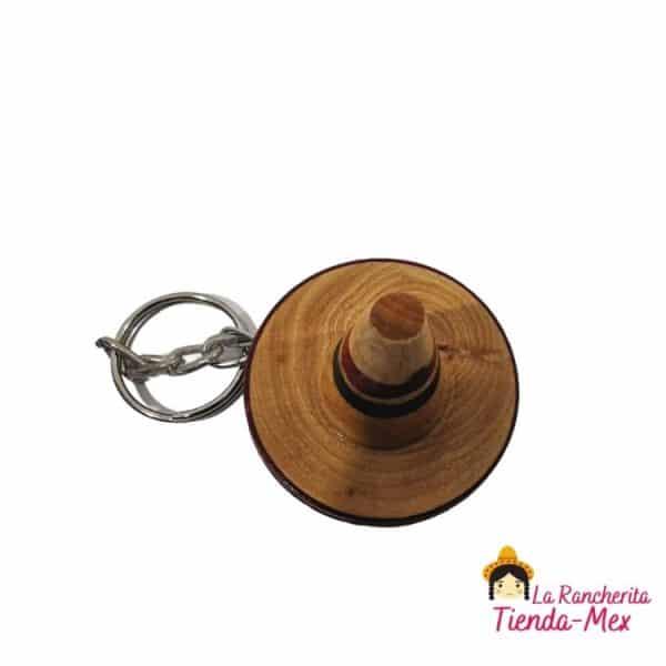 Llavero Sombrero De Madera | Tienda Mex