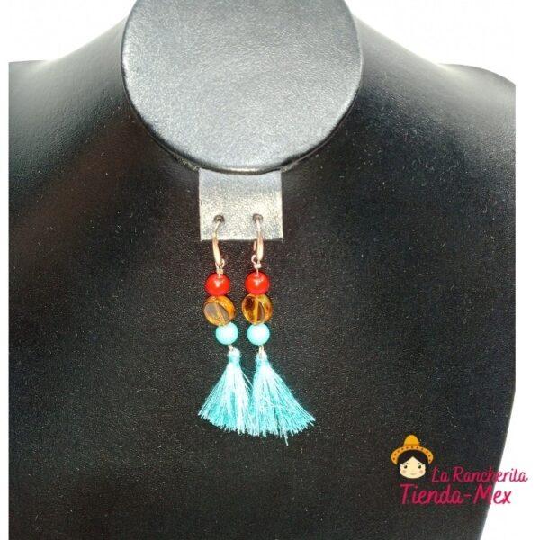 Collar y Aretes Corazon de Ceramica | Tienda Mex