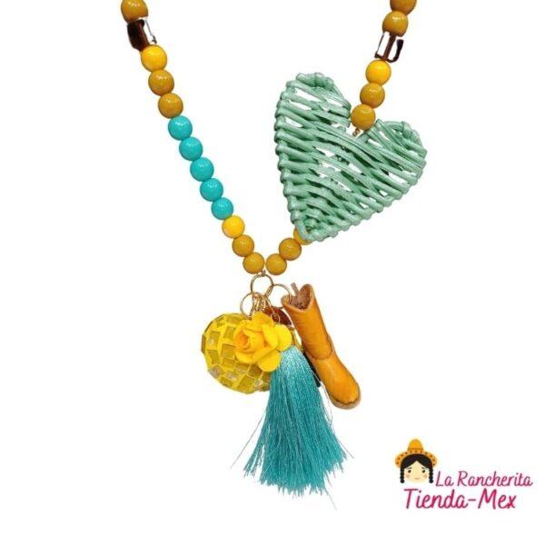 Collar y Aretes Corazon Ranchero | Tienda Mex