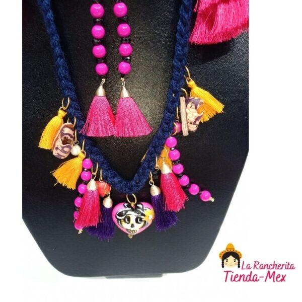 Collar choker con Aretes la Huaracha   Tienda Mex
