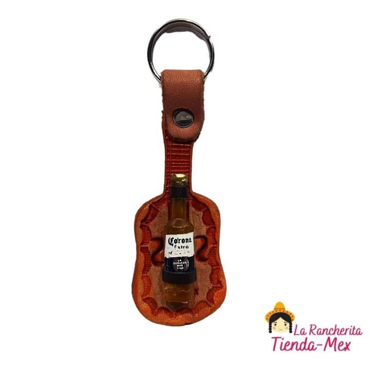 Llavero Guitarra Botella   Tienda Mex