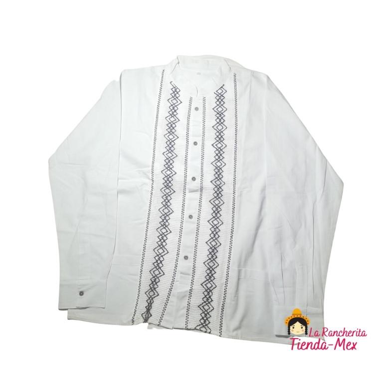 Camisa Bordada Manga Larga